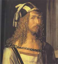 Albrecht Dürer: Self-Portrait - Detail