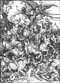 Albrecht Dürer: The Four Horsemen of the Apocalypse Woodcut